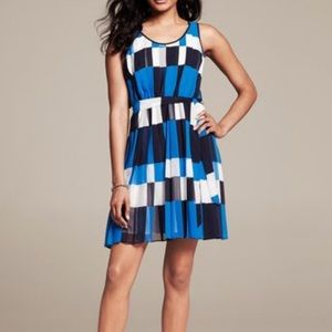 Banana Republic Pleated Tie-front Dress
